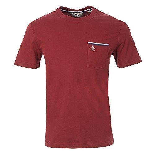 original-penguin-herren-band-kurzarmeliges-t-shirt-weinrot-l