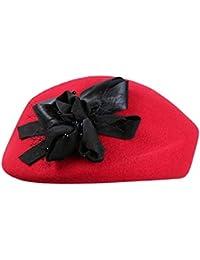 Chengzuoqing Boina de Las Mujeres Sombrero francés de la Boina Accesorio  del Vestido de Lujo Sombrero 5acbe9fd012