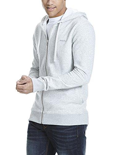 Bench Herren Sweatshirt Hoodie With Backprint Grau (High Rise Marl GY003X)