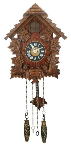 Black Forest Design Small Wooden Cuckoo Clock - 60cm