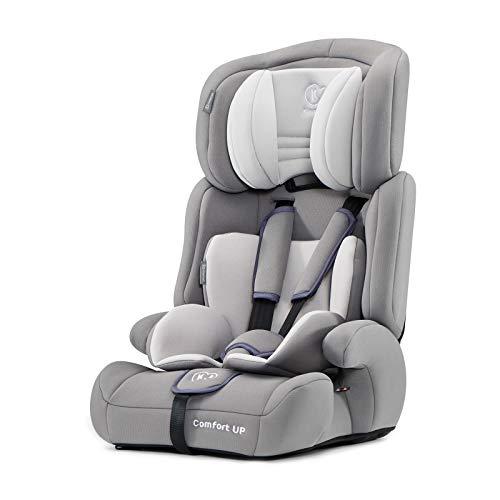 Kinderkraft Seggiolino Comfort Up - Seggiolino da Auto per Bambini Gruppo I/II/III (9-36 kg) Regolazione della Poggiatesta, Comodo e Sicuro Certificato di Sicurezza ECE R44/04 Grigio