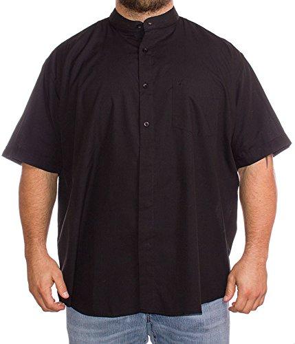 Cotton Valley, camicia a maniche corte, a tinta unita, da uomo, taglie forti Navy