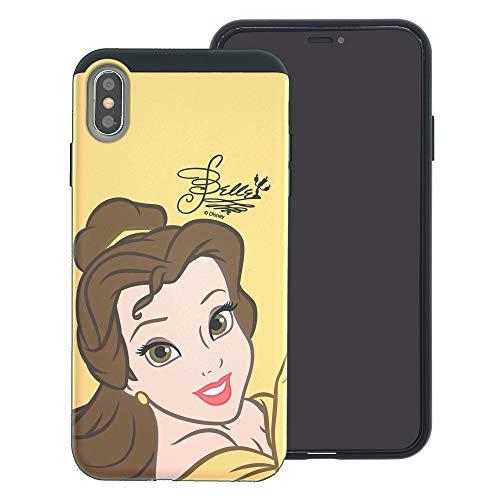 isney Princess Layered Hybrid [TPU + PC] Stoßdämpfung Bumper Cover für [iPhone XS Max], Face Belle (iPhone XS Max) ()