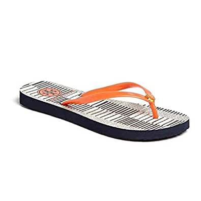 Tory Burch Women's Thin Flip Flop Multi-Color Rubber Flip-Flops and House Slippers - 5.5 UK