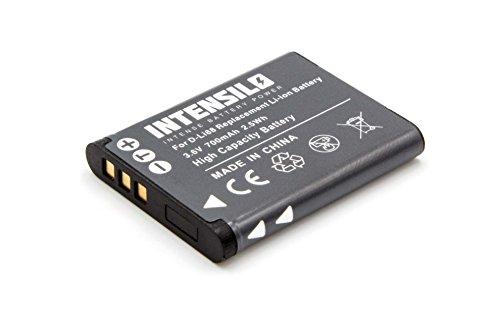 Intensilo li-ion batteria 700mah (3.6v) per fotocamera videocamera toshiba camileo bw10, bw10 hd, px-1686 sostituisce d-li88, vw-vbx070, db-l80