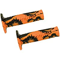 DOMINO Coppia manopole snake arancio/nero (Manopole Moto) / Couple handle grips snake orange-black (Knobs Motorcycle)