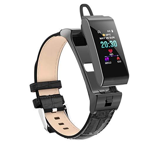 LRWEY Fitness Smart Watch, Fitness Tracker Blutdruck Herzfrequenz Sauerstoffsättigung Monitor Schlaf Monitor Pedometer Bluetooth Headset & Smart Armband iOS Android - Blutdruck Puls Monitor