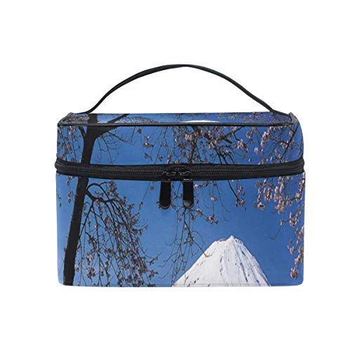 Mount Snow (Tragbare hängende Make-up Kosmetiktasche Tasche,Makeup Bag Japan Snow Mount Cosmetic Bag Portable Large Toiletry Bag for Women/Girls Travel)