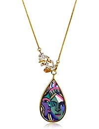 Miranika Gold Plated Pendant for Women (Multi-Colour)(C1D5LSB)