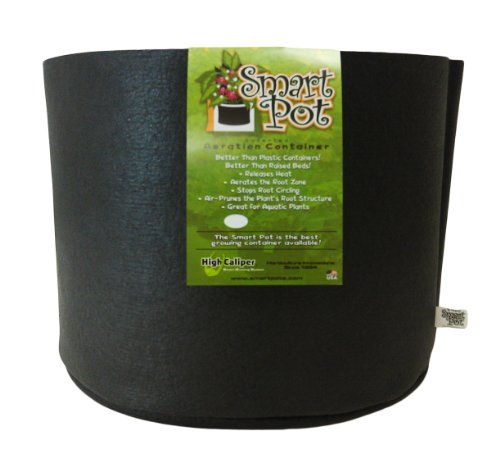 Smart Pots Pot souple, 56 l 7 gallon noir