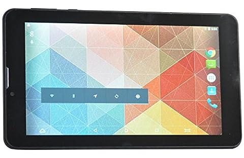 ibowin® M710 7 Pouces Unlocked 3G Tablet Téléphone Cellulaire Carte 2SIM 1G RAM 8G RAM 1024x600 IPS MTK8321 Quad Core Android PC 3G WCDMA / 2G GSM Téléphone Tablette PC WIFI GPS Bluetooth (Gris)
