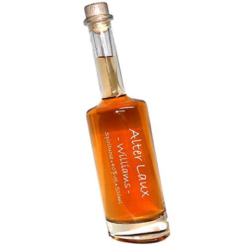 Laux Alter Williams -500ml- 40% DLG Silber´14   Spirituose mit Williams Christ Birnenbrand   in einer formschönen schrägen Flasche