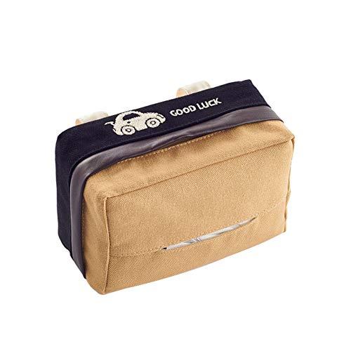 Huhuswwbin Kosmetiktücher-Box Praktisch Familie Car Louver Sonnenblende Sitzlehne hängende Tissue Box Fall Handtuch Serviette Papierhalter - schwarz -
