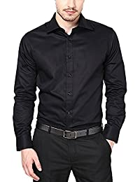 SWISSCOTT Men's Cotton Satin Slim Fit Formal Shirts