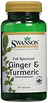 Swanson Full Spectrum Ginger & Turmeric (60 Capsules) by Swanson Health Products