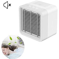 WSN Climatiseur Froid,[Mise à Niveau 2019] 3 en 1 Portable Mini-Refroidisseur d'air humidificateur purificateur Bureau Chambre Maison Petit Dispositif de Refroidissement Marais