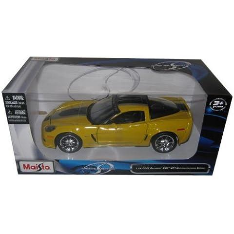 2009 Chevrolet Corvette C6 Z06 GT1 Commemorative Edition 1/24 Yellow by Maisto Tech