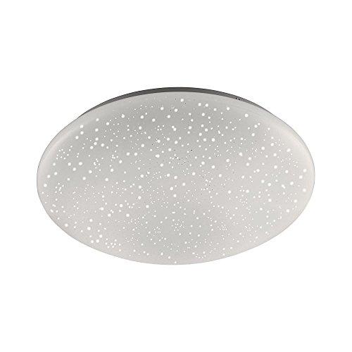 LeuchtenDirekt, LED Deckenleuchte, Ø39cm, dimmbar mit Fernbedienung, RGB-Farbwechsel, Deckenlampe, warmweiss, 3000 Kelvin, Sternenhimmel, rund, IP 20