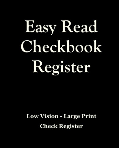 10 pack large print low vision checkbook transaction register 2018