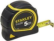 Stanley 1-30-697 - Mètre Tylon Bi matière 5m X 19mm - Ruban Anti-Corrosion - Blocage Du Ruban - Position Du Zé
