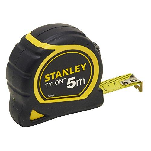 Stanley Bandmass Tylon, 5 m, Tylon-Polymer Schutzschicht, verschiebbarer Endhaken, Kunststoffgehäuse, 0-30-697