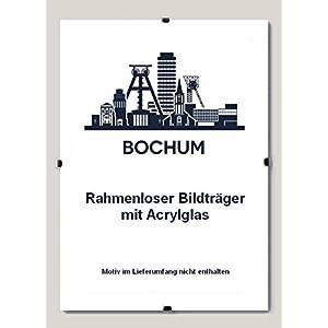 Bochum Rahmenloser Bildhalter 70 x 100 cm Cliprahmen 100 x 70 cm hier: 1 Bildhalter mit Acrylglas klar 1 mm