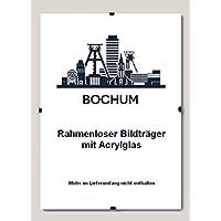 10 Bildhalter Bochum Rahmenloser Bildhalter 75 x 100 cm Cliprahmen 100 x 75 cm (Stückpreis nur 27,54 € ) hier: mit Acrylglas Antireflex 1 mm