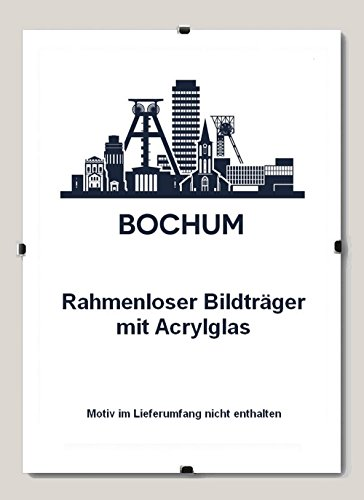 Bochum Rahmenloser Bildhalter 60 x 120 cm Cliprahmen 120 x 60 cm hier: 1 Bildhalter mit Acrylglas...