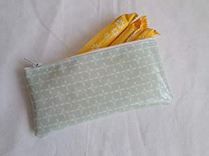 Handmade Oilcloth Tampon Case Holder - John Lewis Duck Egg Blue Ditton Fabric