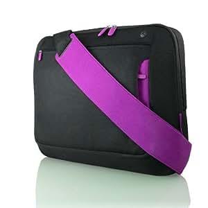 Belkin Messenger Bag for Upto 15.6 inch Notebooks - Jet/Royal Lilac