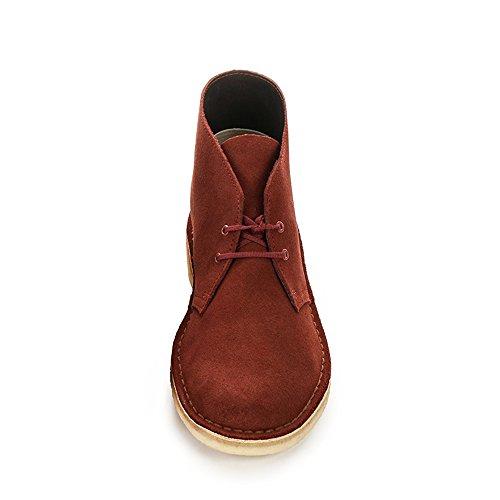 "Clarks Desert Boot, Derby homme (largeur: G ""standard"" ) Rouge (Terracotta)"