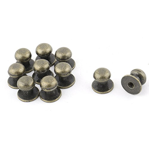 sourcingmap® Metal Home Round Top Cupboard Drawer Dresser Pull Knob Handle 10pcs Bronze Tone