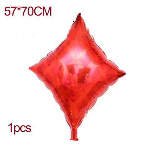 ZheQR 10pcs / Lot 12inch Spades/Herzen/Clubs/Diamanten LatexballonsAluminiumfolieBallons Party Supplies Dekor Spielkarten Poker-Diamonds-1pcs