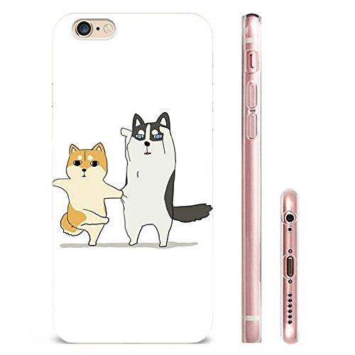 IPHONE 6s Hülle Elche Giraffe Katze Hund Niedlich TPU Silikon Schutzhülle Handyhülle Case Clear Case für iPhone 6/6s (EH-(1)01) EH-(4)01