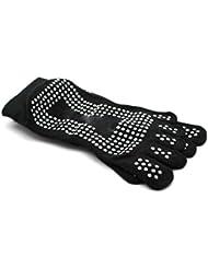 Nouveau Gym Sport exercice de yoga chaussette antidérapant en coton Black