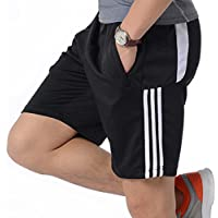 ORANSSI Mens Shorts Football Running Gym Active Sports Trunks with Zipper Pockets