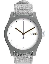 Grey Shadow - Reloj unisex con correa de lona intercambiable.