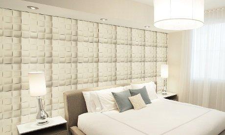 Wandpaneel aus langlebigem Kunststoff, leicht abziehen und aufkleben, 3D-Design 12 Panels 32 SF -