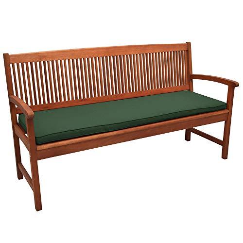 Beautissu Loft BK Bankauflage Auflage für Gartenbank Sitzkissen 150x48x5cm Dunkelgrün Polsterauflage mit Oeko-Tex weitere Farben & Größen