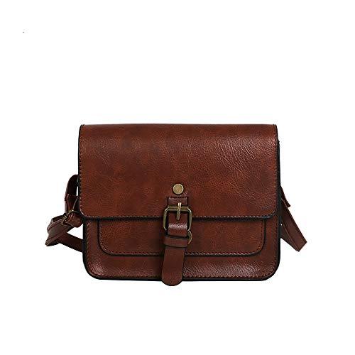 LANDFOX Retro-Öl-Haut kleine quadratische Tasche Gürtel Zange Umhängetasche Handtaschen Damen Lederimitat Umhängetasche Designer Taschen