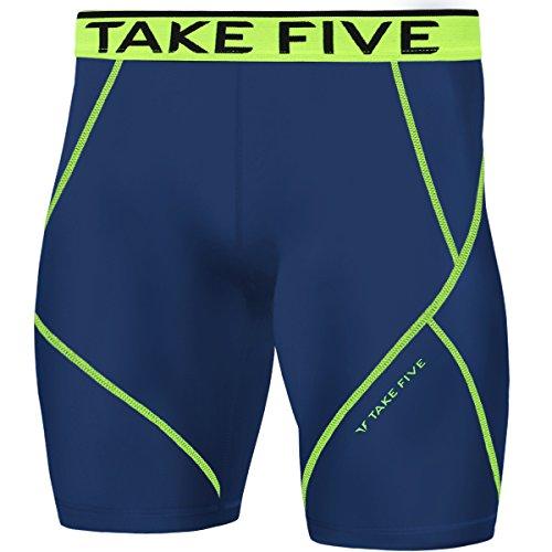 NP525 - Pantalones cortos de compresión para hombre, para deportes, h