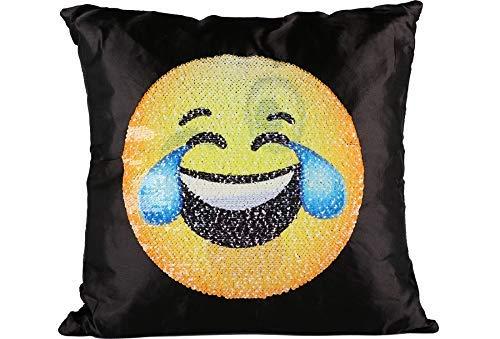 n   Glitter Pailletten   40x40cm   Karo   trendig   Emoji   100% Polyester   Schwarz ()