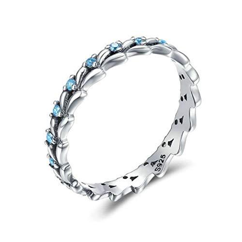 au Ring, Vintage Mode Einstellung Wave 925 Sterling Silber Ring Für Frauen Größe 6-10 Silber 925 Schmuck Mode Persönlichkeit, 8. ()
