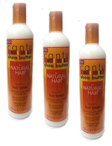 3x Cantu Shea Butter Creamy Hair Lotion 408ml (insgesamt - 1224ml) (Shea Hair Lotion Butter)