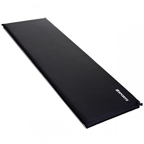 LCP Sports Selbstaufblasende Luftmatratze Isomatte 200x66 cm und 10 cm Dick/Stark; Schwarz