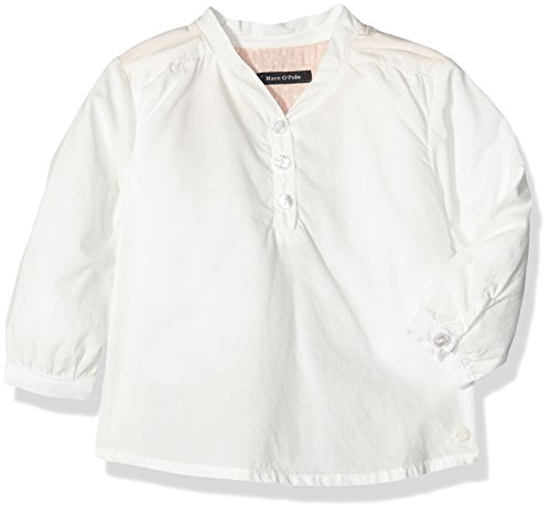 Marc O' Polo Kids Baby-Mädchen Bluse Tunika 1/1 Arm, Weiß (Cloud Dancer|White 1610), 74 (74)