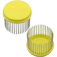 AmgateEu 2 piezas de jaula de acero inoxidable de abejas reinas