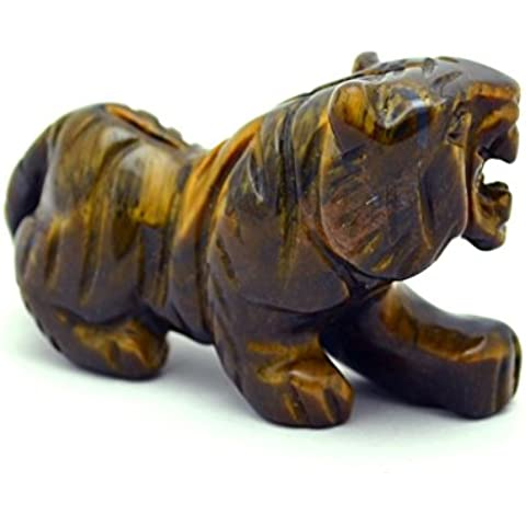 Intagliato pietra preziosa Tiger - Occhio di Tigre S-524