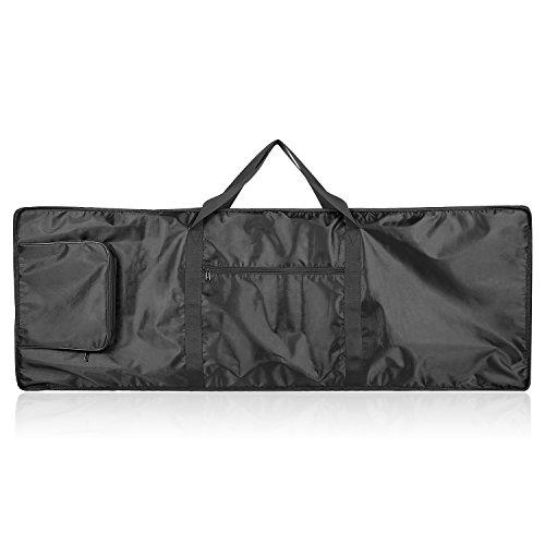 Neewer 88-Tasten-Keyboard-Tasche mit extra Taschen für E-Piano, aus strapazierfähigem und wasserdichte Nylon, einstellbare und beweglicher Rucksack-Bügel, Schwarz