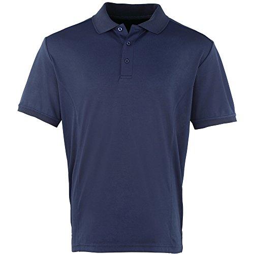 Premier Mens Coolchecker Pique Polo Shirt Navy
